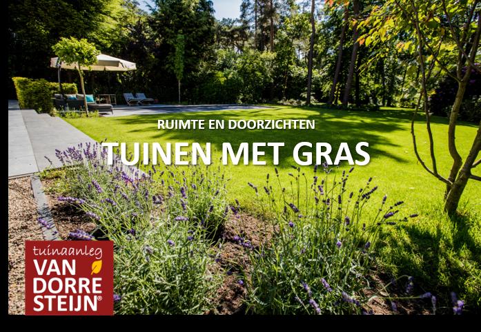 tuin met gras tuinaanleg van Dorresteijn