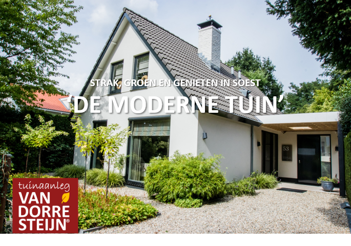 Moderne tuin Soest tuinaanleg van Dorresteijn