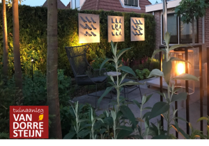 sfeer strakke tuin tuinaanleg van Dorresteijn