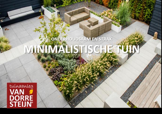 Minimalistische tuin Soest tuinaanleg van Dorresteijn