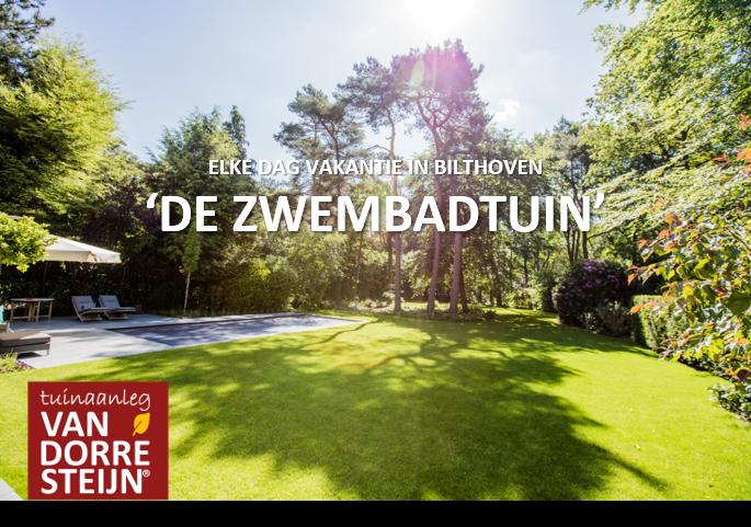 Tuin met zwembad in Bilthoven tuinaanleg van Dorresteijn