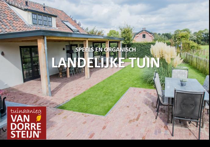 landelijke tuin terras tuinaanleg van Dorresteijn